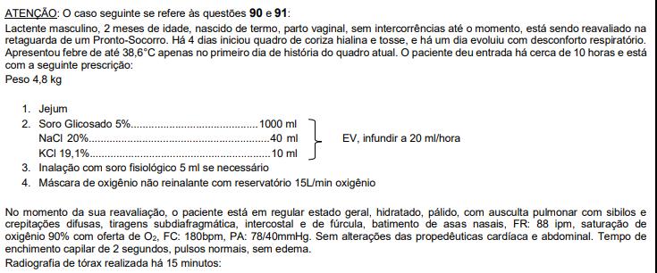 Questão de pediatria da prova de residência médica da FMUSP 2020 - Sanar Medicina