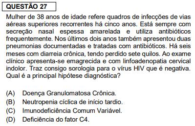 Questão de clinica médica da prova de residência médica da FMUSP 2020 - Sanar Medicina